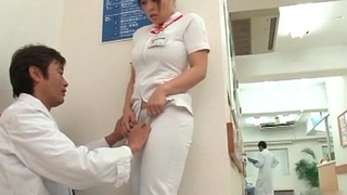 Marketable Japanese nurse gets seduced in the