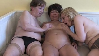 Mature housewives are licking
