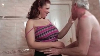 Horny fat whore goes stupid sucking