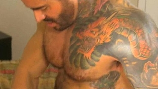 Tattoes guy fucking younger asian dude