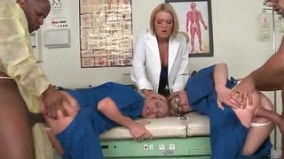 Hot blond doctor gets the brush sweet pussy