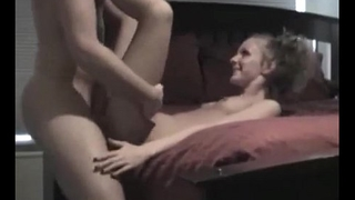 Amateur college babe hard fucked on homemade