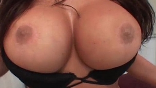 Big boobed MILF slut gets that tight ass