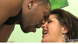 Interracial hardcore sex with sexy busty mom and black dong 3