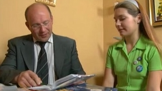 young teen cute russian girl and ancient man teacher. sweet fist time porn.