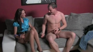 Guy gets horny taking her clothes off