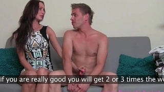 Guy getting naked together with getting his hard